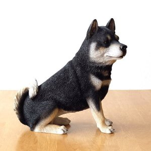 犬 置物 オブジェ アニマル ドッグオーナメント 玄関 エントランス ガーデンオーナメント インテリア イヌ いぬ ペット 動物 ドッグオーナメント シバ犬A|gigiliving