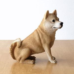 犬 置物 オブジェ アニマル ドッグオーナメント 玄関 エントランス ガーデンオーナメント インテリア イヌ いぬ ペット 動物 ドッグオーナメント シバ犬B|gigiliving