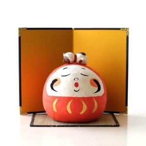 ちぎり和紙でできた まん丸の福だるまのセット  幸せそうなお顔に 上の乗っかった猫ちゃんまでも なん...