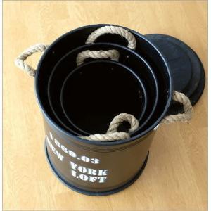 ストレージ缶 セット ストレージボックス アイアン レトロ 収納ボックス 木製 蓋付き おしゃれ ヴィンテージ ドラム缶風 ドラムストレージBOX3セット|gigiliving|05