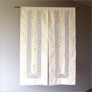 のれん 暖簾 レース おしゃれ 洋風 間仕切り 目隠し カーテン 幅85×高さ120cm 洋のれん ジャガード&レースの写真