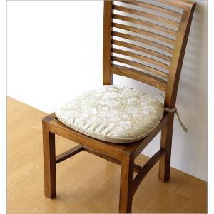 シートクッション ひも付き おしゃれ エレガント ジャガード織り 椅子用クッション シートクッションA|gigiliving|02