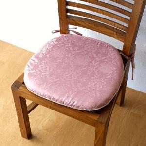 シートクッション ひも付き おしゃれ エレガント ジャガード織り 椅子用クッション シートクッション2カラー|gigiliving