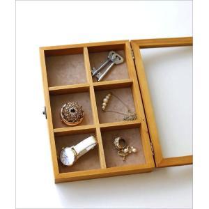 コレクションボックス 木製 ショーケース コレクションケース 卓上 アクセサリーケース 小物入れ ふた付き 収納ケース 仕切り 格子 コレクションボックス gigiliving 02