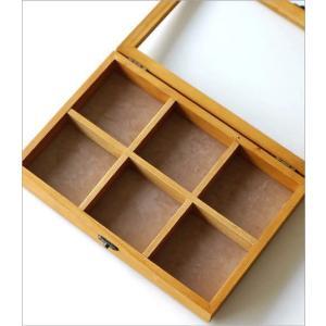 コレクションボックス 木製 ショーケース コレクションケース 卓上 アクセサリーケース 小物入れ ふた付き 収納ケース 仕切り 格子 コレクションボックス gigiliving 03