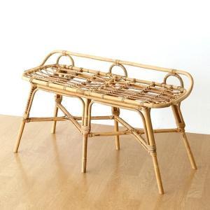 ベンチ おしゃれ ラタン 自然素材 腰掛け 玄関 ラタンの2人掛けベンチ|gigiliving