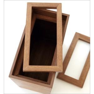 ゴミ箱 おしゃれ ふた付き 木製 木目 スリム 薄型 コンパクト 袋が見えない 袋止め 小さい くず入れ くずかご 四角 長方形 洗面所 木のダストボックス|gigiliving|04
