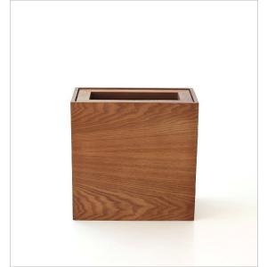 ゴミ箱 おしゃれ ふた付き 木製 木目 スリム 薄型 コンパクト 袋が見えない 袋止め 小さい くず入れ くずかご 四角 長方形 洗面所 木のダストボックス|gigiliving|05