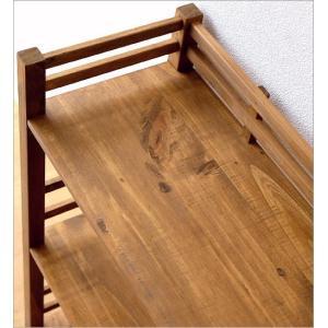 ウッドラック 飾り棚 木製 本棚 オープンラック 天然木 ナチュラル カントリー 幅70cm ウッド3段シェルフ|gigiliving|05