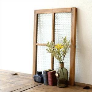 ウィンドウ 窓ガラス フレーム アンティーク おしゃれ 雑貨 レトロなガラスウィンドウ B|gigiliving