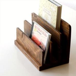 ブックスタンド 木製 おしゃれ 本立て 本立 CDスタンド ウッドブックホルダー gigiliving