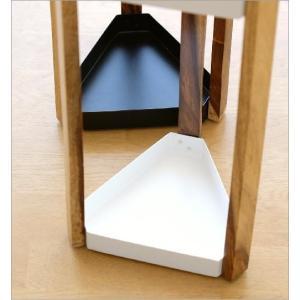 傘立て 傘たて 傘立 おしゃれ 木製 アイアン 三角形 デザイン シンプル スタイリッシュ 黒 白 ブラック ホワイト アイアンとウッドの傘立て A2カラー|gigiliving|04