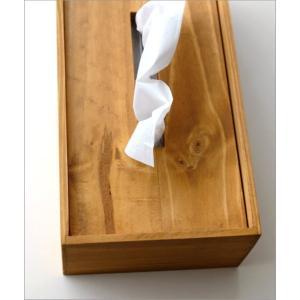ティッシュケース 木製 木 シンプル おしゃれ ティッシュボックス パイン|gigiliving|05