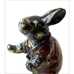 うさぎ ウサギ 置物 置き物 雑貨 ペン置き レトロなラビットのペンホルダー|gigiliving|03