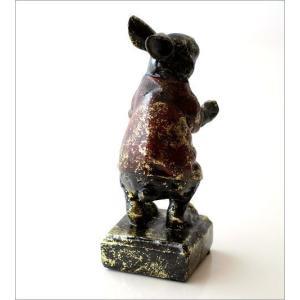 うさぎ ウサギ 置物 置き物 雑貨 ペン置き レトロなラビットのペンホルダー|gigiliving|04