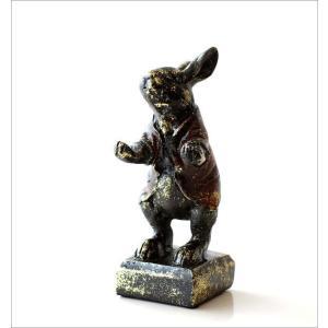 うさぎ ウサギ 置物 置き物 雑貨 ペン置き レトロなラビットのペンホルダー|gigiliving|06