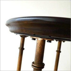 丸テーブル サイドテーブル アンティーク レトロ おしゃれ 花台 トレーテーブル 黒 ブラック 円形 モダン 木製 天然木 アイアンとウッドのトレイテーブル|gigiliving|05