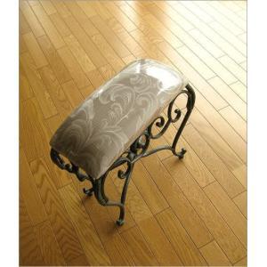 スツール 椅子 いす イス クッションチェア 玄関 アンティーク おしゃれ アイアンのスリムなスクエアスツール|gigiliving|02