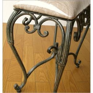 スツール 椅子 いす イス クッションチェア 玄関 アンティーク おしゃれ アイアンのスリムなスクエアスツール|gigiliving|04