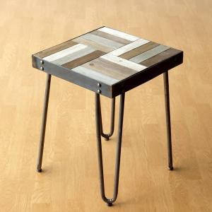 サイドテーブル 木製 アンティーク アイアン レトロ おしゃれ ベッドサイドテーブル ナイトテーブル ソファサイドテーブル 花台 ウッドワークサイドテーブル|gigiliving