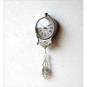 掛け時計 振り子時計 おしゃれ アンティーク レトロ 小さな掛け時計|gigiliving|02