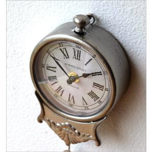 掛け時計 振り子時計 おしゃれ アンティーク レトロ 小さな掛け時計|gigiliving|03