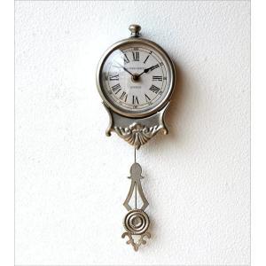 掛け時計 振り子時計 おしゃれ アンティーク レトロ 小さな掛け時計|gigiliving|05