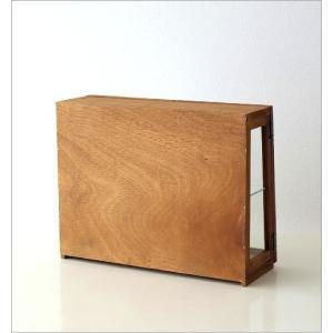 ガラスケース ショーケース ディスプレイケース 扉付き収納 コレクションケース 木製 ナチュラル カントリー コレクションケース レトロウッドのガラスケース|gigiliving|05