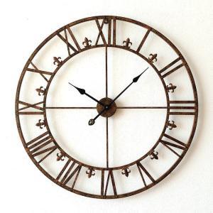 壁掛け時計 掛け時計 壁掛時計 掛時計 おしゃれ アイアン アンティーク レトロ クラシック 大きい 大型 ウォールクロック 大きな掛け時計 アイアンダイヤル|gigiliving