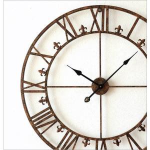 壁掛け時計 掛け時計 壁掛時計 掛時計 おしゃれ アイアン アンティーク レトロ クラシック 大きい 大型 ウォールクロック 大きな掛け時計 アイアンダイヤル|gigiliving|02