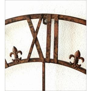 壁掛け時計 掛け時計 壁掛時計 掛時計 おしゃれ アイアン アンティーク レトロ クラシック 大きい 大型 ウォールクロック 大きな掛け時計 アイアンダイヤル|gigiliving|03
