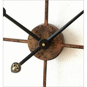 壁掛け時計 掛け時計 壁掛時計 掛時計 おしゃれ アイアン アンティーク レトロ クラシック 大きい 大型 ウォールクロック 大きな掛け時計 アイアンダイヤル|gigiliving|04