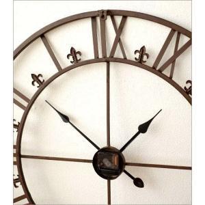 壁掛け時計 掛け時計 壁掛時計 掛時計 おしゃれ アイアン アンティーク レトロ クラシック 大きい 大型 ウォールクロック 大きな掛け時計 アイアンダイヤル|gigiliving|05