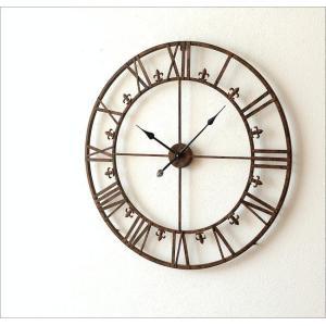 壁掛け時計 掛け時計 壁掛時計 掛時計 おしゃれ アイアン アンティーク レトロ クラシック 大きい 大型 ウォールクロック 大きな掛け時計 アイアンダイヤル|gigiliving|06
