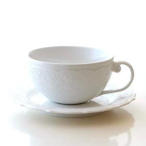 カップ&ソーサー 白 ホワイト 陶器 おしゃれ 紅茶 コーヒーカップ&ソーサー 洋風 シャローティーカップ&ソーサー|gigiliving