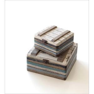 小物入れ ふた付き 木製 アクセサリーケース おしゃれ 宝箱 入れ子 収納 アンティーク レトロ 卓上 ウッドトレジャーBOXセット|gigiliving|02