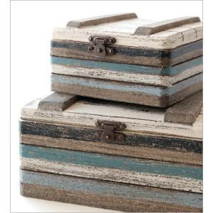 小物入れ ふた付き 木製 アクセサリーケース おしゃれ 宝箱 入れ子 収納 アンティーク レトロ 卓上 ウッドトレジャーBOXセット|gigiliving|05