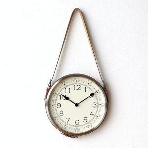 壁掛け時計 掛け時計 合皮レザー ウォールクロック おしゃれ 吊り下げ レザーベルト掛け時計|gigiliving