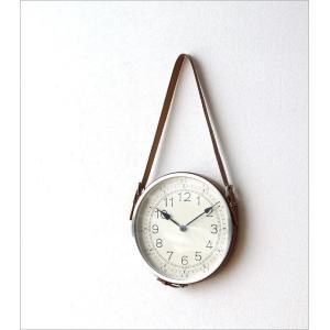 壁掛け時計 掛け時計 合皮レザー ウォールクロック おしゃれ 吊り下げ レザーベルト掛け時計|gigiliving|02