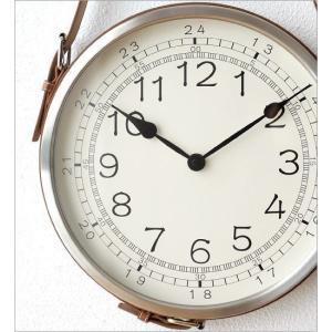 壁掛け時計 掛け時計 合皮レザー ウォールクロック おしゃれ 吊り下げ レザーベルト掛け時計|gigiliving|03