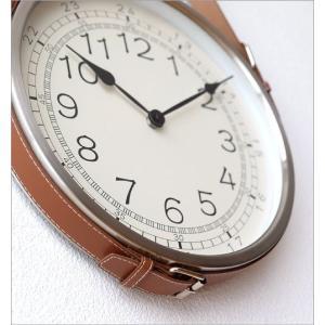 壁掛け時計 掛け時計 合皮レザー ウォールクロック おしゃれ 吊り下げ レザーベルト掛け時計|gigiliving|05