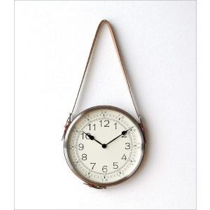 壁掛け時計 掛け時計 合皮レザー ウォールクロック おしゃれ 吊り下げ レザーベルト掛け時計|gigiliving|07