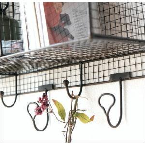 ウォールシェルフ 壁掛け ラック 収納 棚 ボックス ウォールラック 木製 アイアン おしゃれ レトロ アンティーク ワイヤーキューブのウォールシェルフ|gigiliving|03