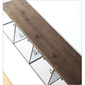 ウォールシェルフ 壁掛け ラック 収納 棚 ボックス ウォールラック 木製 アイアン おしゃれ レトロ アンティーク ワイヤーキューブのウォールシェルフ|gigiliving|05