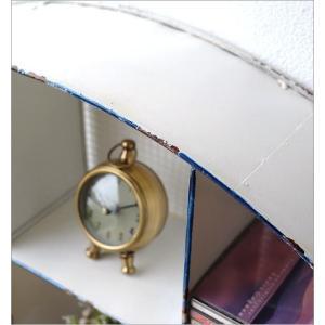 ウォールシェルフ 白 くじら アンティーク 壁掛け 収納 飾り棚 飾棚 ウォールラック 壁飾り ホワイト ディスプレイ メタルなくじらのウォール棚|gigiliving|06