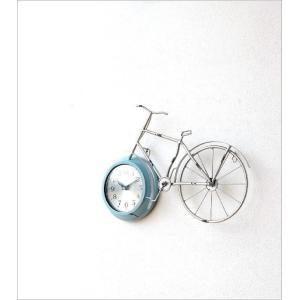 掛け時計 アンティーク レトロ おしゃれ かわいい ビンテージ アナログ 自転車ウォールクロック|gigiliving|02