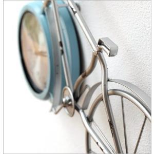 掛け時計 アンティーク レトロ おしゃれ かわいい ビンテージ アナログ 自転車ウォールクロック|gigiliving|04