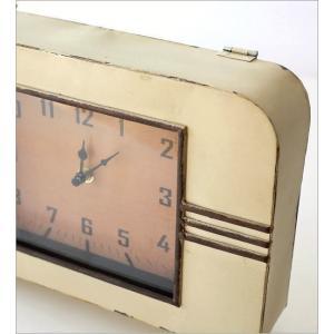 置き時計 置時計 アンティーク レトロ おしゃれ アナログ 卓上 時計 レトロなマントルクロック|gigiliving|03