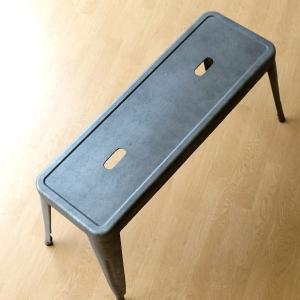 ベンチ おしゃれ アンティーク レトロ シャビー 金属製 長椅子 玄関 椅子 腰掛け インダストリアル ガルバリウム ガルバメタルベンチ gigiliving