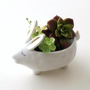 小物入れ 陶器 うさぎ 白 かわいい アクセサリー トレイ 収納 おしゃれ かわいい 卓上 雑貨 陶器のラビット小物入れ|gigiliving